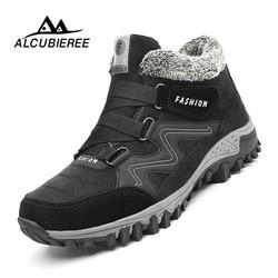 Brand Men Snow Boots Plus Size 45 New Men Boots with Fur Unisex Winter Snow Botas Warm Plush Shoes High Top Boots Autumn