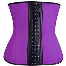 NINGMI en caoutchouc corps shaper pour les femmes sexy Shapewear taille formateur Cincher latex Shaper brûlant minceur taille ceinture Corset Bustier