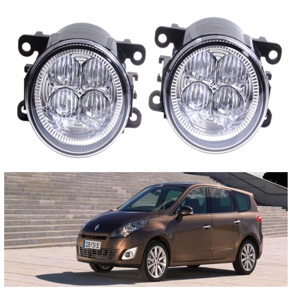 For Renault GRAND SCENIC III JZ0 JZ1  MPV  2009-2015 10W High power Lens fog lights Car styling Fog Lights 1set куплю тормозные колодки на renault scenic rx4