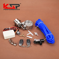 Kingsun 3'' 76mm Stainless Vacuum Exhaust Cutout Control Valve Kit With Wireless Remote Controller