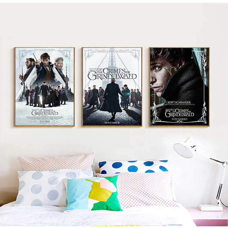 Detail Feedback Questions About Fantastic Beasts The Crimes Of Grindelwald Poster Coated Paper Bar Cafe Home Decor Painting Wall Sticker On Aliexpress