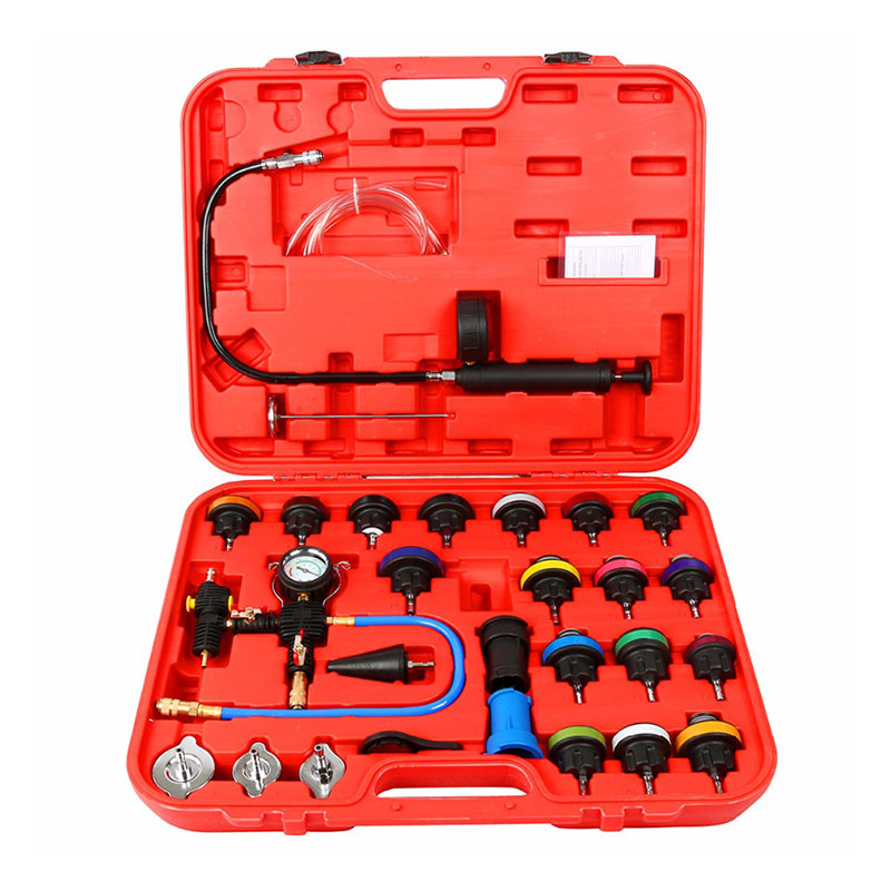 28pcs Universal Radiator Pressure Tester Kit Cooling System Tester Water Tank Leakage Tester Water Tank Leakage