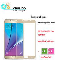 Silk color Tempered Glass Screen Protector Protective Film For Samsung Galaxy Note 5 N9200 N920T N920A N920I N920G, (100PCS/LOT) стоимость
