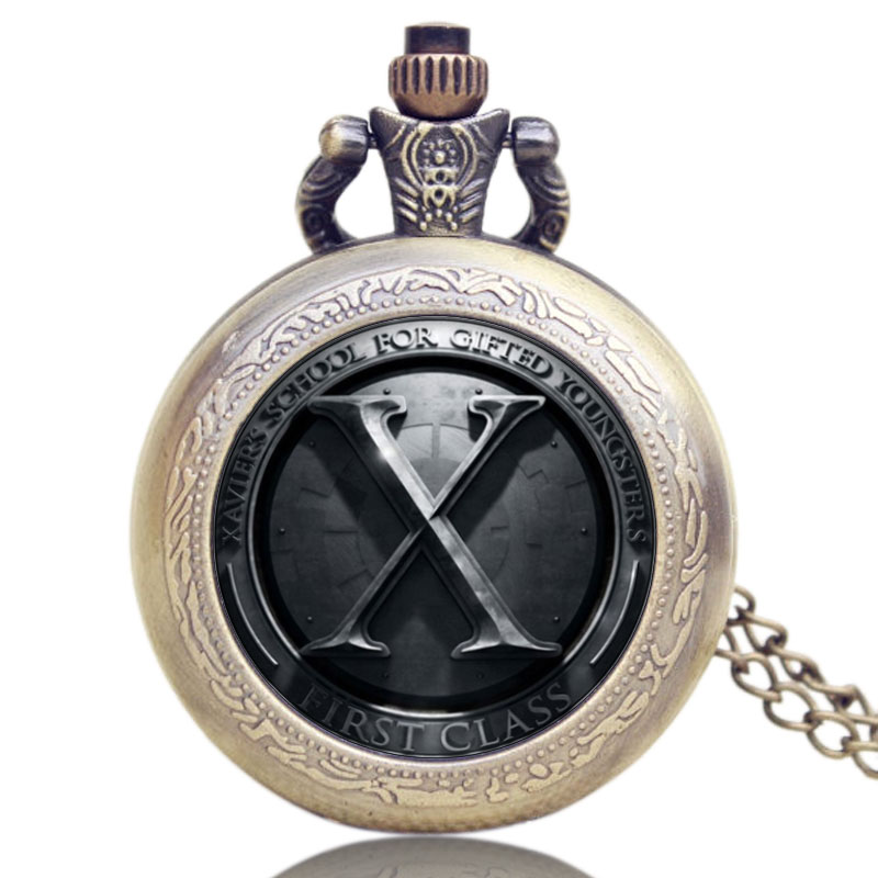 2016 Gift Marvel Heroes Young People Accessory X-Men Pendant Relogio Masculino With Necklace Gift Quartz Pocket Watch Men fq777 rc drone dron 4ch 6 axis gyro helicopter wifi fpv rtf rc quadcopter drones with camera toy fq777 fq10a vs syma x5sw x5sw 1