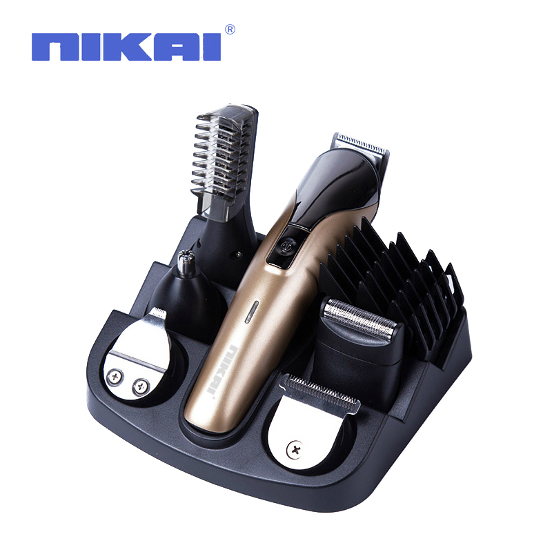 Multifunctional Electric Hair Trimmer Grooming Kit Nose Ear Beard Clipper Mustache Trimmers Shaver Suit Hair Cutter for Barbers codos 3300 pet electric nail grinder dog cat paw trimmer grooming clipper tool