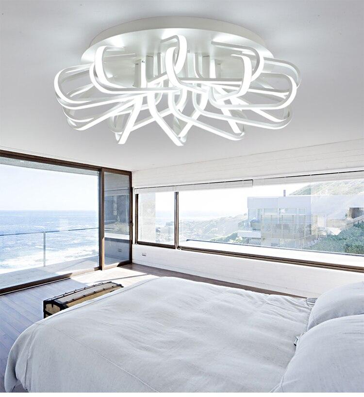 Акриловые современные светодиодные светильники потолочные для гостиной спальня столовая дома потолочный светильник освещение светильник...
