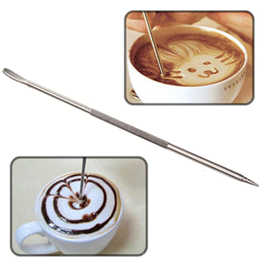 Hot Sell Coffee Decoration Coffee Latte Art Pen Tool For Coffee Espresso Machine Stainless Steel Pull
