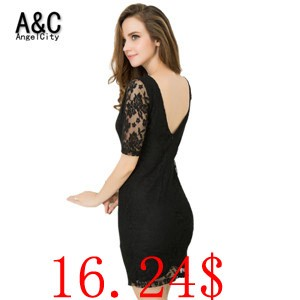 Plus-Size-S-6XL-2015-Sexy-Bodycon-Dress-Summer-Women-Vintage-V-Backless-Zipper-Open-Black