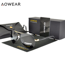 AOWEAR Classic Aviation Sunglasses Polarized Men UV400 Color