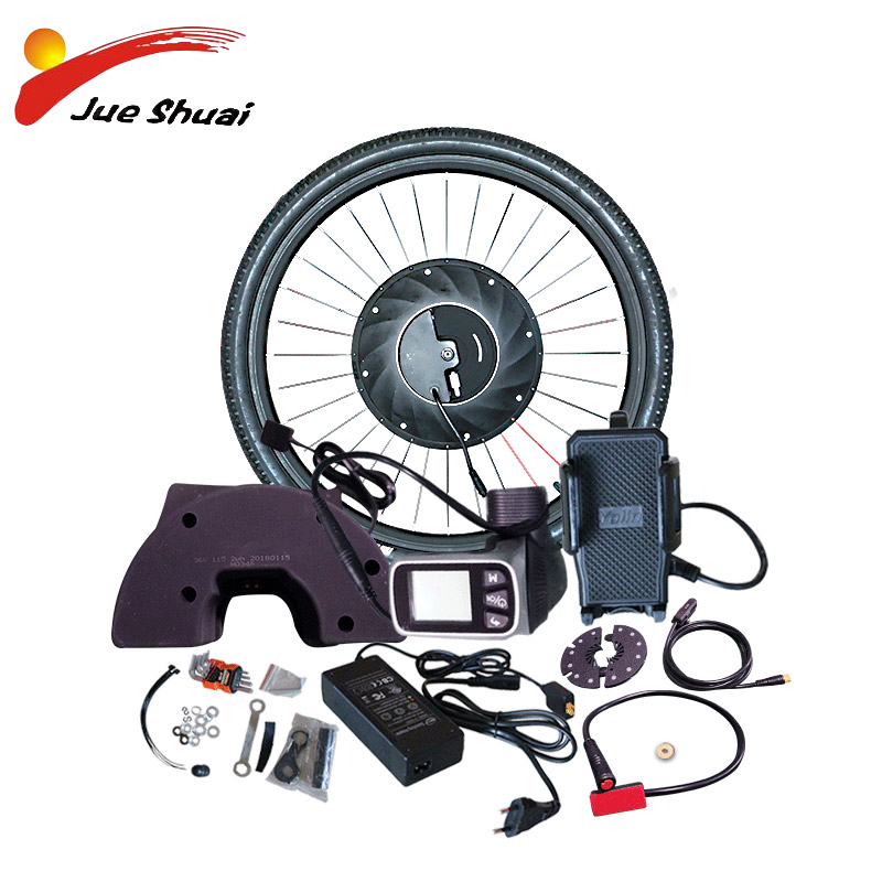 iMotor Electric Bicycle Conversion Kit With Battery Brushless Gear Hub Motor Wheel Controller Motor For Bicycle Ebike MTB Kit in Electric Bicycle Motor from Sports Entertainment