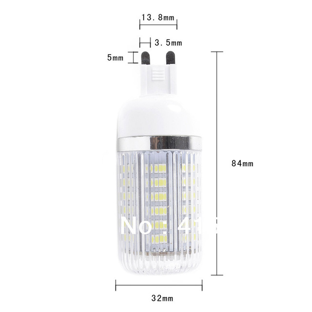 G9 5W 3528 LED Corn Light Lamp Bulb 220V ( 110V ) with 80 leds CE ROHS Approve high quality Warranty SMD bulb - free shipping