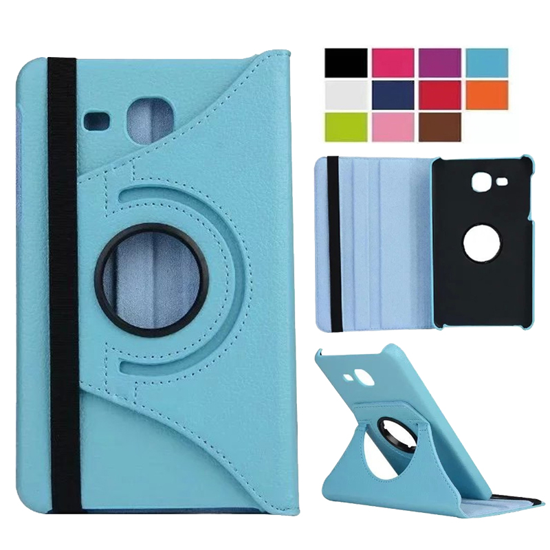 360 Rotating Case For Samsung Galaxy Tab A 7.0 T280 T285 SM-T280 SM-T285 2016 PU Leather Case Folding Stand Smart Cover