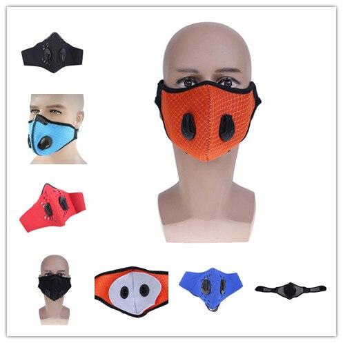 1 Pc De Filtro De Carbono Activado A Prueba De Viento Boca Mufla Pm2.5 Anti Polvo Máscara Multicolor Bacterias Prueba Máscaras Para El Ciclismo Senderismo ArtesaníA Exquisita;