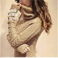 Fashion Long Pullover Sweaters Thick Warm Turtleneck Sweater women High Quality Elastic Basic Fall Winter knitwear pull femme