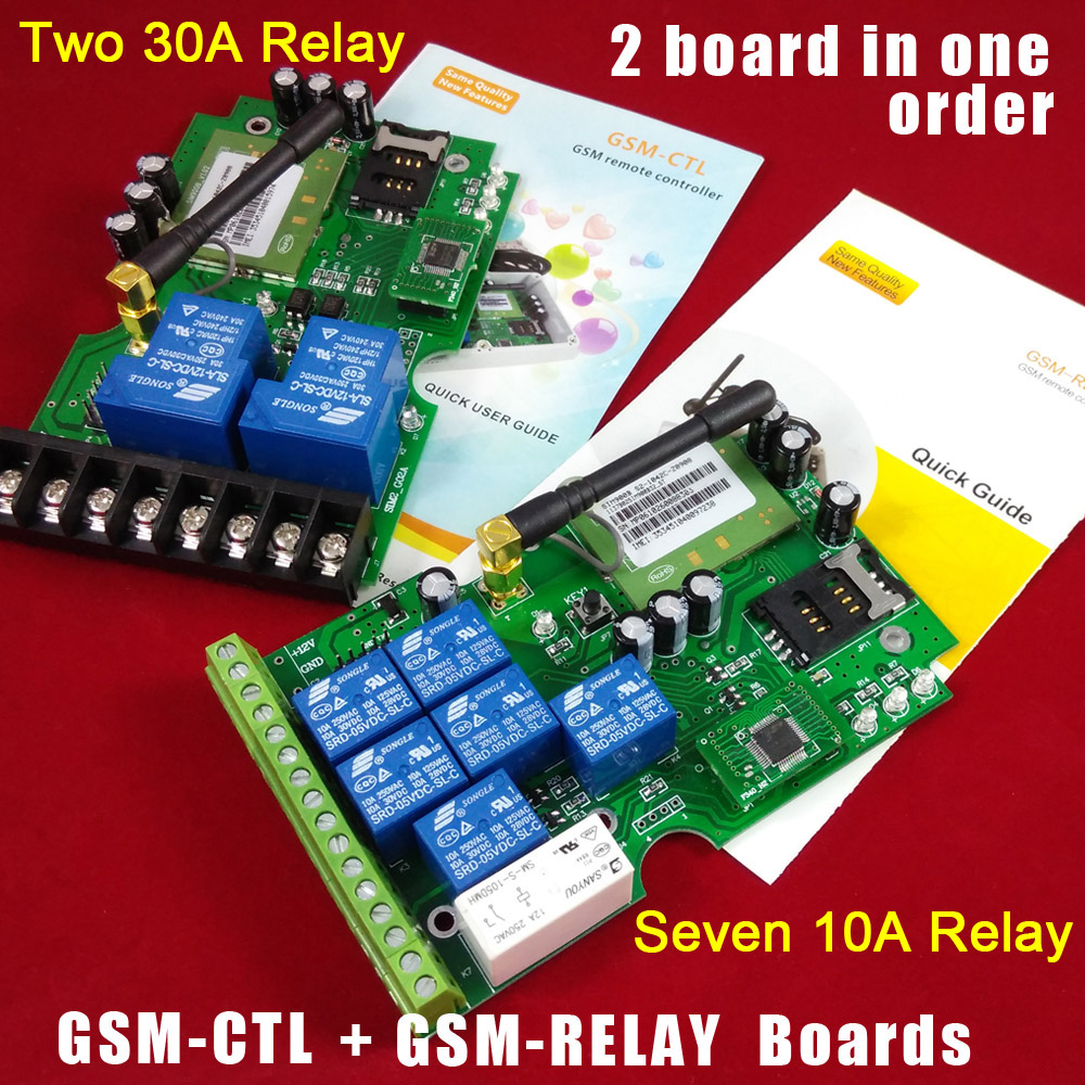 GSM-RELAY Seven relay control board and GSM-CTL double big power relay switch