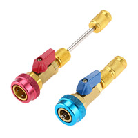Car Air Conditioning R134A Valve Core Quick Remover Installer High Low Pressure Tool Refrigerant Adapter Valve Core Remover Tool