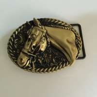 Retail Latest Styles Classic Oval Bronze Horse Belt Buckle With Pewter Fashion Woman Man Jeans Accessories