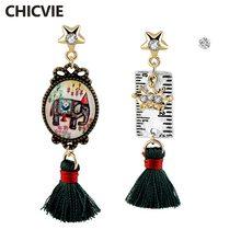 Chicvie Висячие золотые серьги дизайн для женщин богемные ювелирные