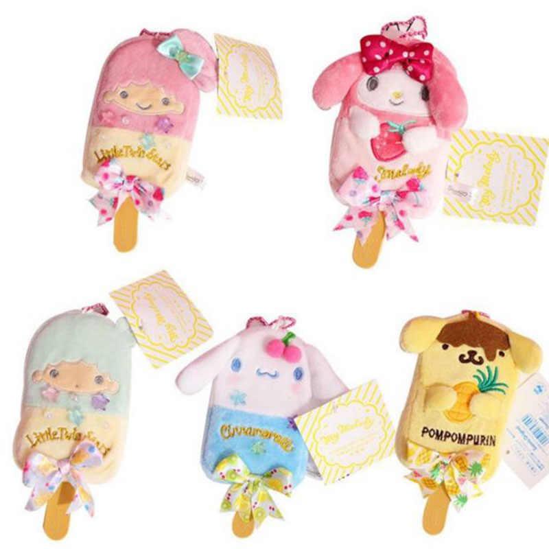 1 pc cartoon my melody pudim cinnamoroll cão de pelúcia chaveiros sorvete brinquedo de pelúcia pingente macio animais de pelúcia boneca crianças meninas