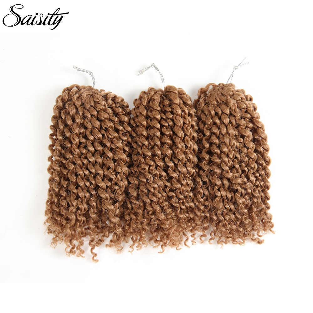 Saisity brown marlybob crochet hair afro kinky curly hair crochet braids hair extension synthetic braiding hair jumbo jerry curl