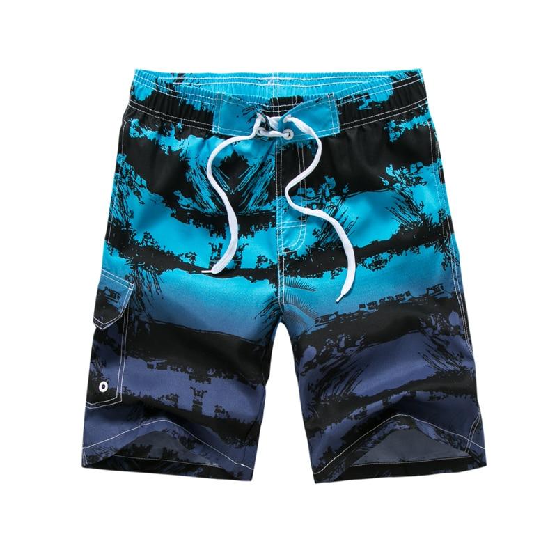 2019 New Summer outdoor sports shorts men's board shorts striped anti-sweat beach shorts men swim surf shorts
