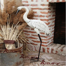 High95cm เหล็กสีขาวสูง cranes waterfowl เครื่องประดับ, ถอดออกได้, garden villa ตกแต่งพิธีขึ้นบ้านใหม่ของขวัญสัตว์สวนเครื่องประดับ