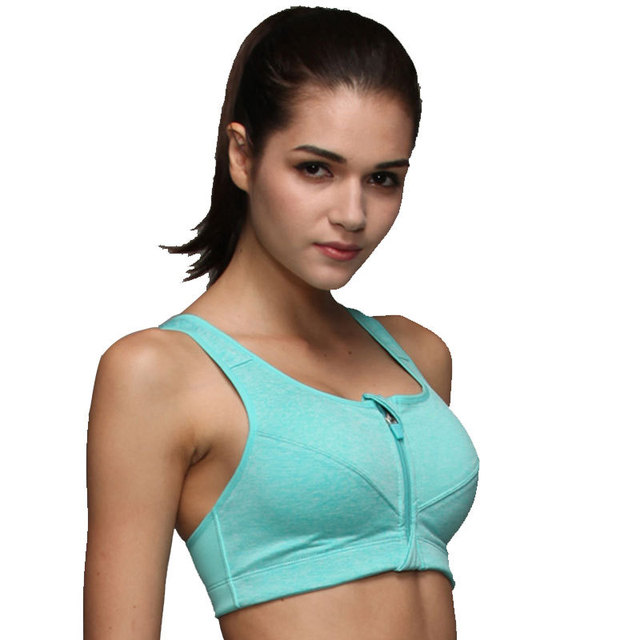 Front Push Up Shockproof Wirefree Tops Gym Fitness Bra