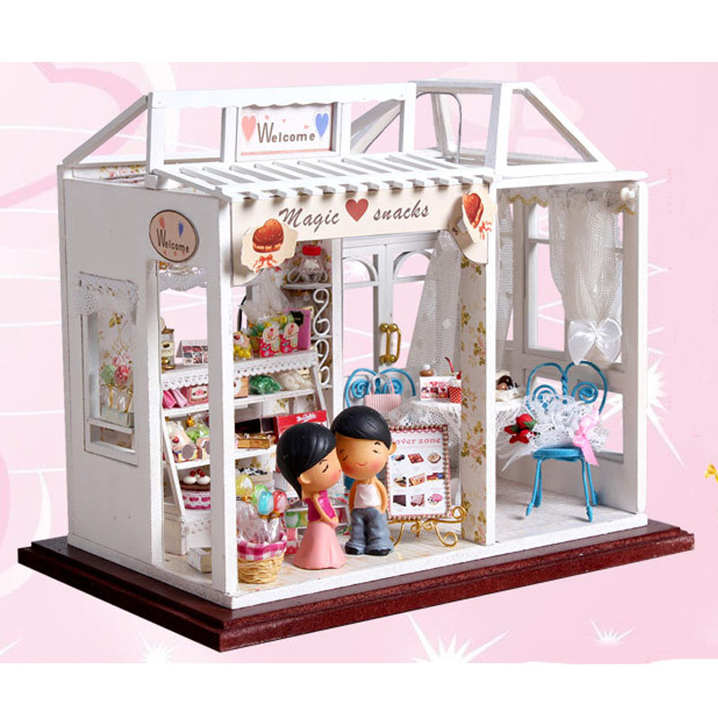 Diy Wooden Dolls House Handcraft Miniature Kit Sweet Candy Room