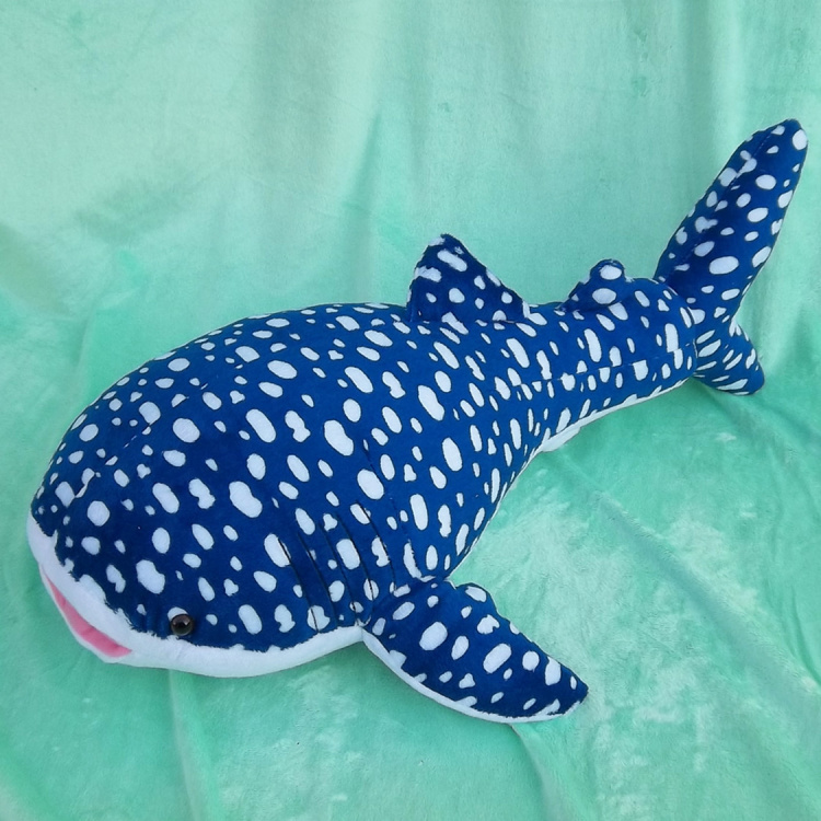 Nouveau peluche animal de mer jouet baleine bleue requin poupée cadeau environ 60 cm