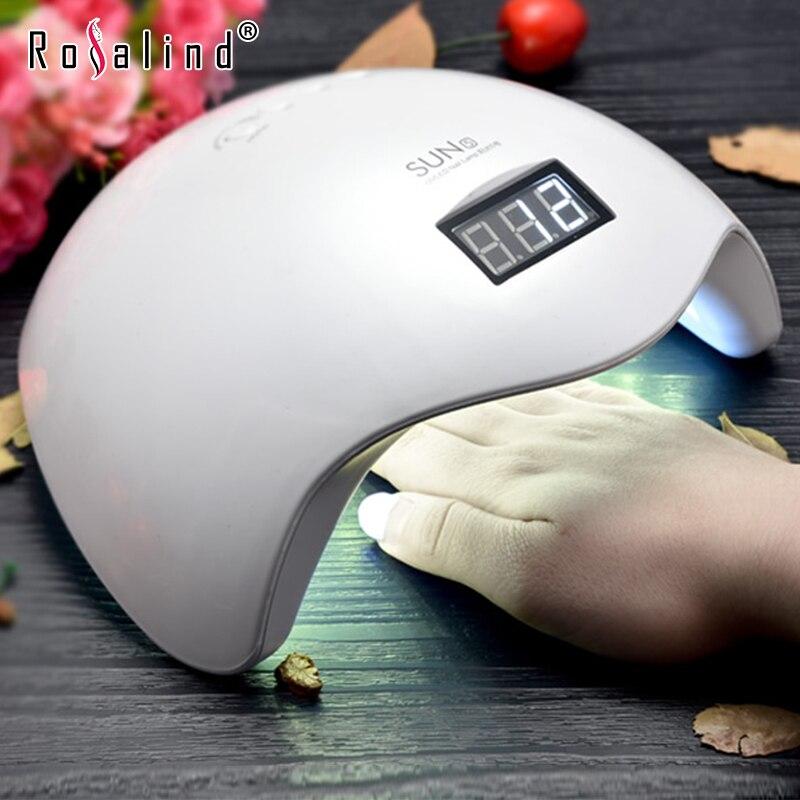 ROSALIND SUN5 professionnel UV lampe à LED sèche-ongles Machine à polir pour le durcissement des ongles Gel Art outil de haute qualité 48 W lampes LED