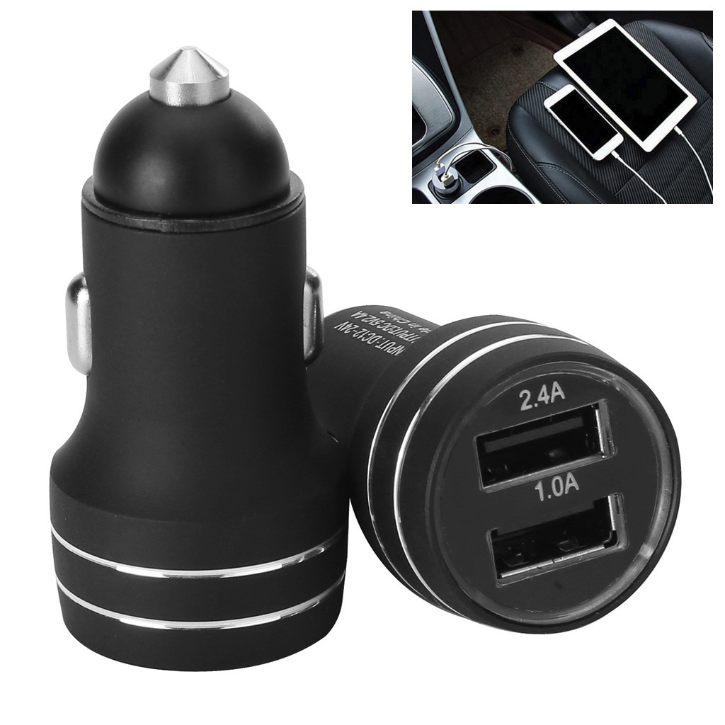 Car USB Charger Quick Charge Car  5V/2.4A/1A Auto Charger Adapter Car-Charger For Mobile Phone Tablet 2 Port Car charging Y514