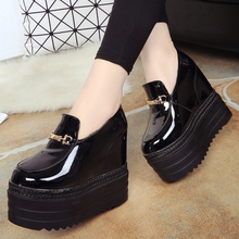 Super High Heel Women Platform Shoes Glitter Sliver Waterproof Women Casual Shoes Round Toe Shoes Increasing Height G68 35