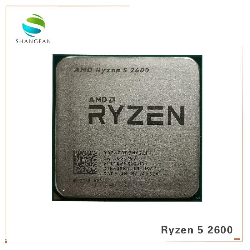 AMD Ryzen 5 2600 R5 2600 3.4 GHz Six-Core douze-Core 65W processeur d'unité centrale YD2600BBM6IAF Socket AM4