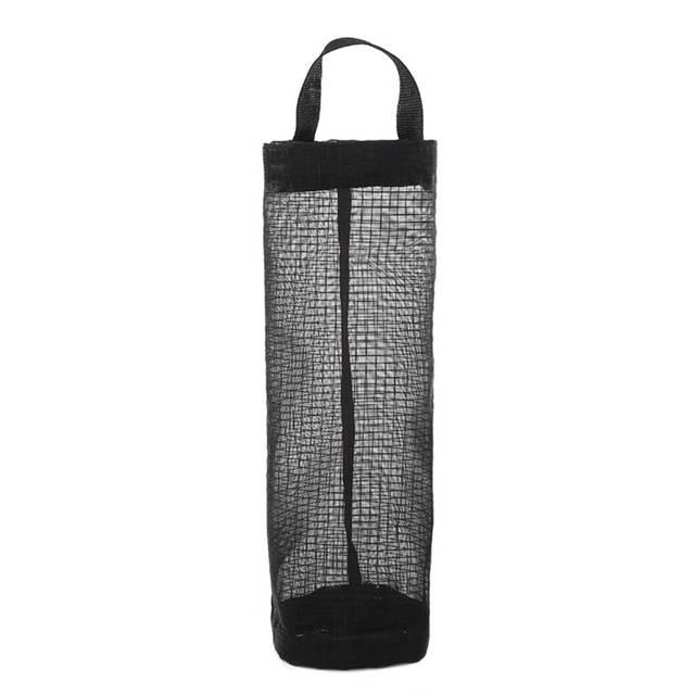 US $0 91 35% OFF|Dropshipping Home Grocery Storage Bag Holder Wall Hanging  Bag Kitchen Storage Bag Dispenser Plastic Kitchen Organizer-in Storage Bags