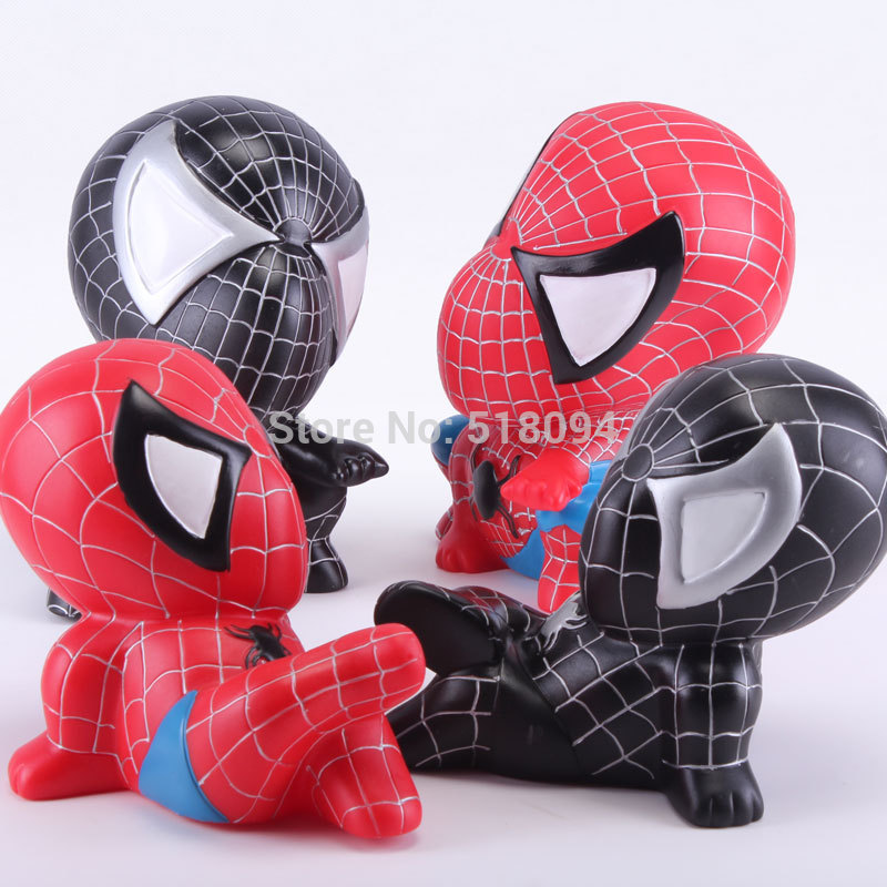<font><b>Spider-man</b></font> Piggy Coin <font><b>Bank</b></font> Spiderman PVC Figure Collectible Model Toys Dolls Gifts for Children HRFG317