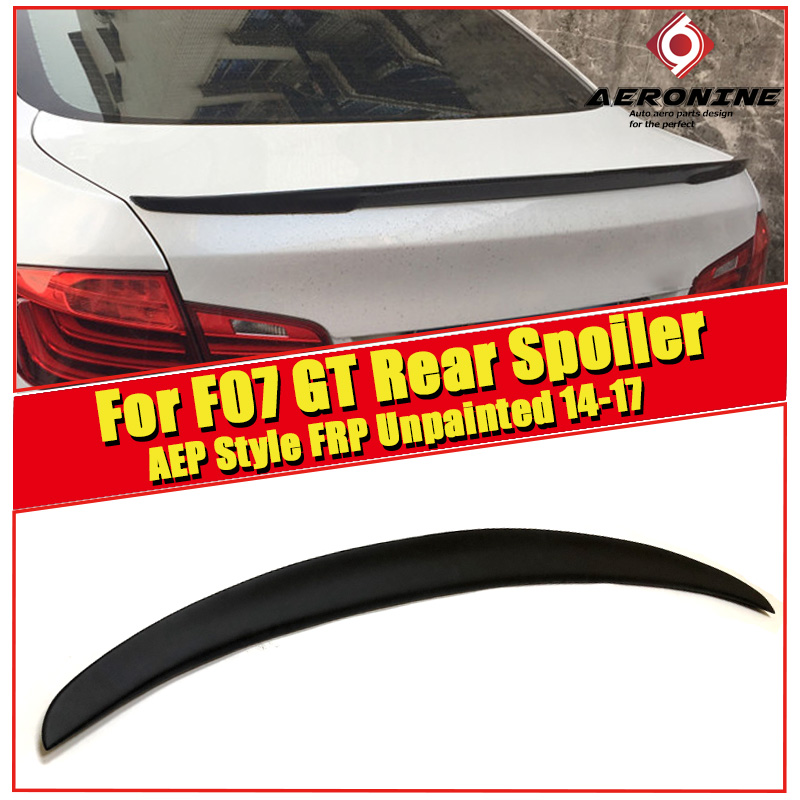 Spioler Extension cap wing FRP Unpainted P style Fits For <font><b>BMW</b></font> 5 series <font><b>GT</b></font> F07 535iGT 550iGT wing Trunk <font><b>spoiler</b></font> 2014-2017 image