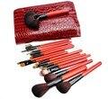 Alta qualidade profissional 22 Pcs maquiagem escova suave pêlo de cabra Foundation pó Make up Brush beleza Facial care + saco vermelho