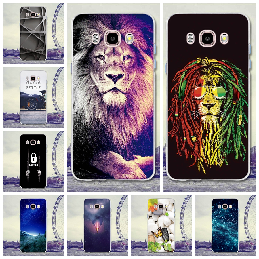 Galleria fotografica For Coque Samsung Galaxy J5 2016 J510 J510F SM-J510F Case Cover 5.2 Lion Cartoon Rubber TPU Silicone Case For Samsung J5 (6)