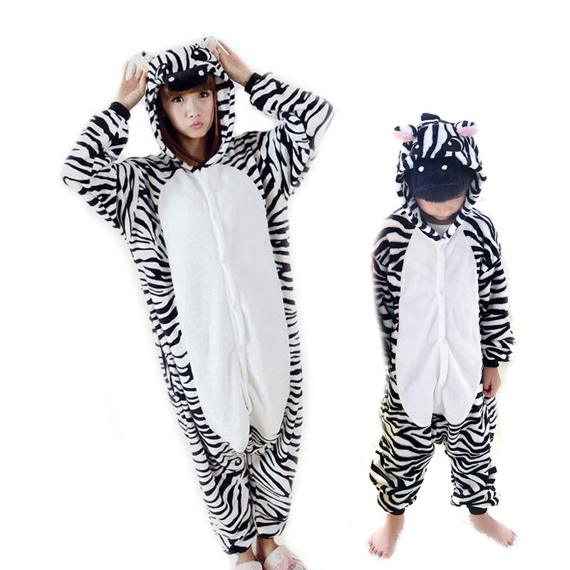 Animal Onesie For Adults Women Cute Flannel Pijama Hombre Kids Mother Daugher Family Paj ...