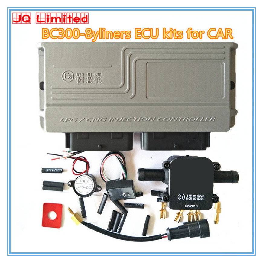 8 cylinder LPG CNG Gas conversion kit for cars Latest Version 11.3 BC300 ECU kits More stable & durable  GPL GNC KITS with wire