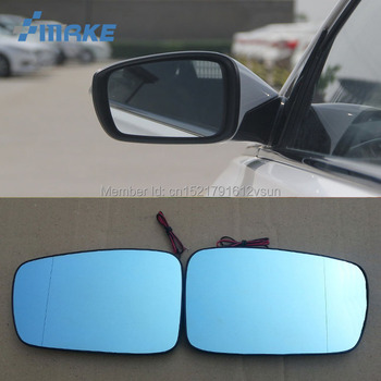 smRKE 2Pcs For Hyundai Sonata 8th Rearview Mirror Blue Glasses Wide Angle Led Turn Signals light Power Heating