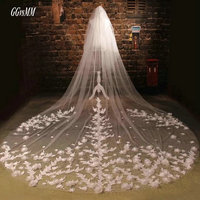 Romantic White Bride veiling Married Flower Ivory Wedding Veils 3 Meter Long Tail Bridal Veil 2018 In Stock Wedding Accessories