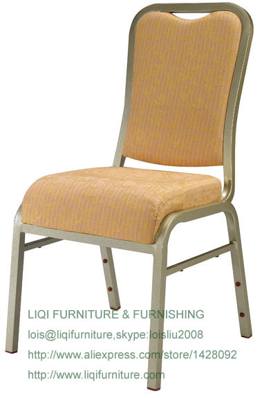 Wholesale Quality Strong Gold Aluminum Vip Stacking Hotel Chairs LQ-L2041