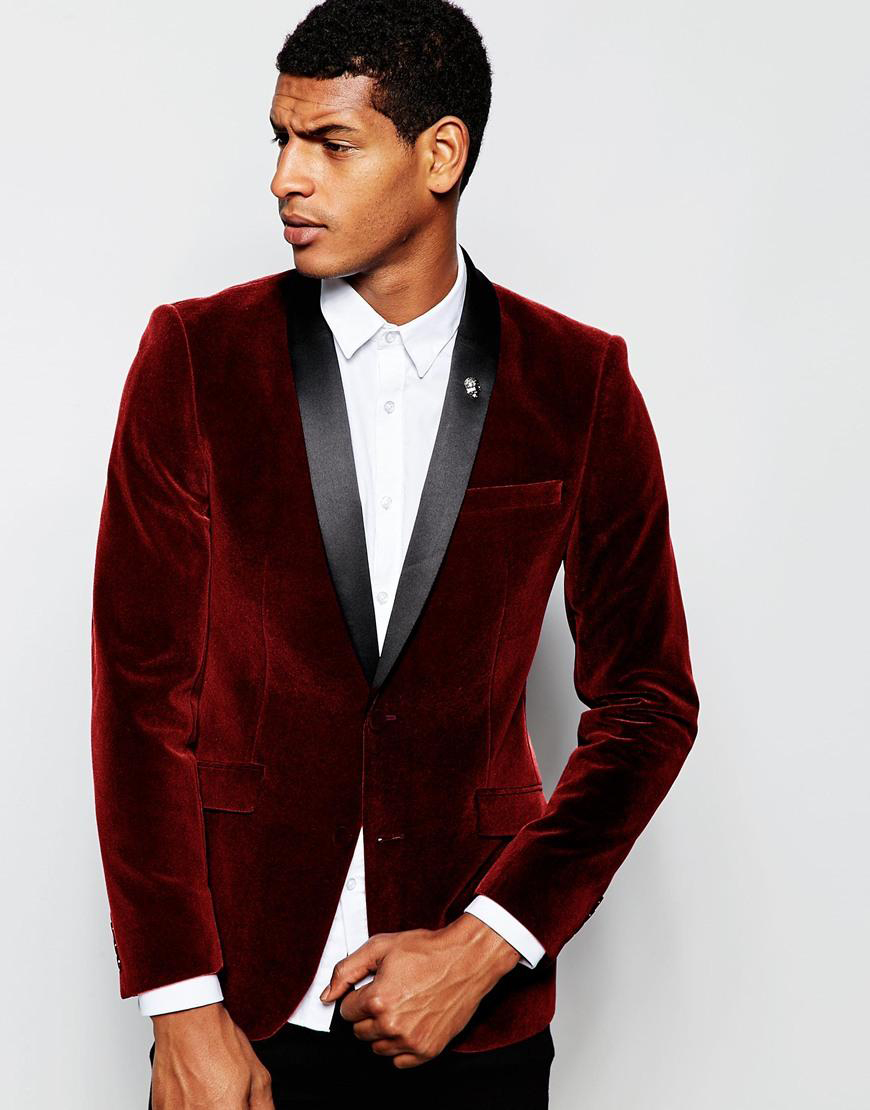 Online Get Cheap Burgundy Jacket Slim Fit Prom -Aliexpress.com ...