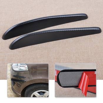 CITALL 2pcs 32.5cm Carbon Fiber Texture Bumper Edge Corner Spoiler Scratch Protector Strip Guard Sticker fit for Ford Mazda Audi