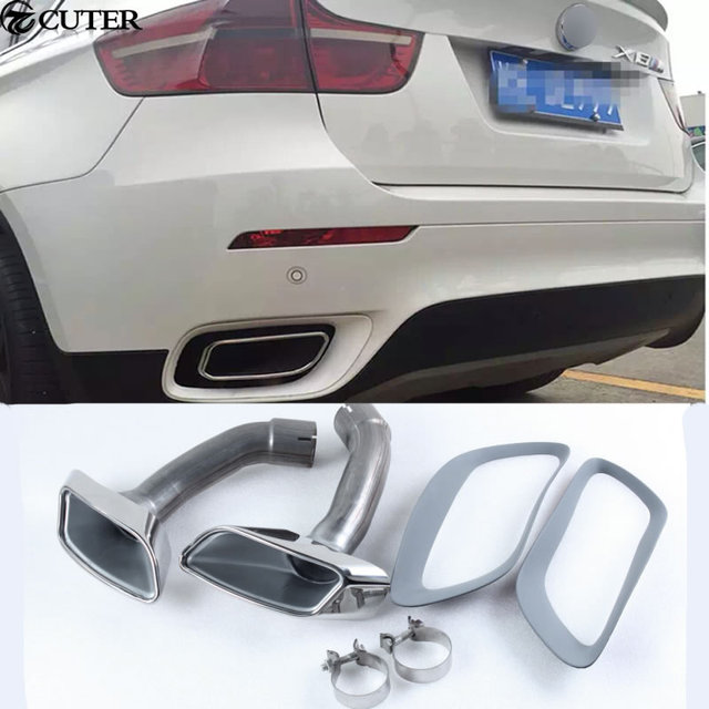 X6 E71 Car Styling Stainless Steel Muffler Exhaust Pipe End Tips