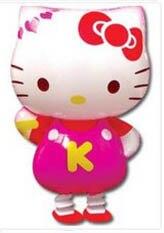 Фольгированные шары Hello KITY прекрасный шары розовый и синий цвет для выбора Прогулки Pet шары для детей подарок и игрушки