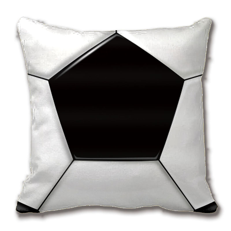 Cool Soccer Ball Pattern And Throw Pillow