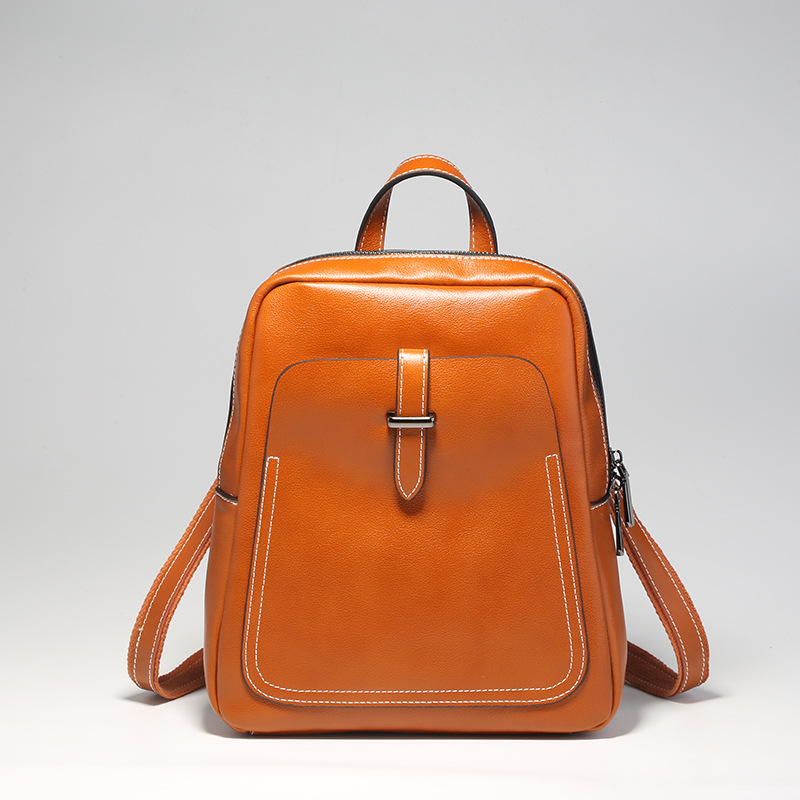 MC New Fashion Women Genuine Leather Backpack Mini Travel Bag School Backpack Multifunction Shoulder Bags Simple Cow Leather Bag hot sale new backpack genuine leather women backpack fashion school backpack luxury women shoulder bag youth shoulder bag women