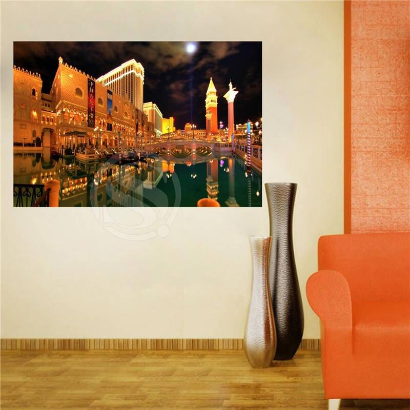 las vegas wf vistas exteriores lienzo pintura de pared seda poster cartel de impresin de